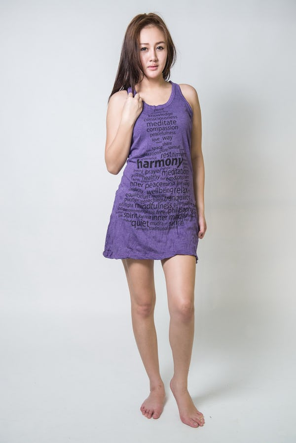 Sure Design Womens Harmony Tank Dress Purple