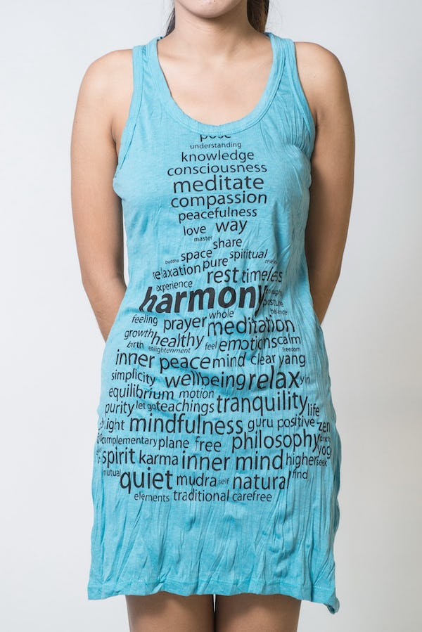 Sure Design Womens Harmony Tank Dress Turquoise