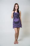 Sure Design Womens Weed Owl Tank Dress Purple