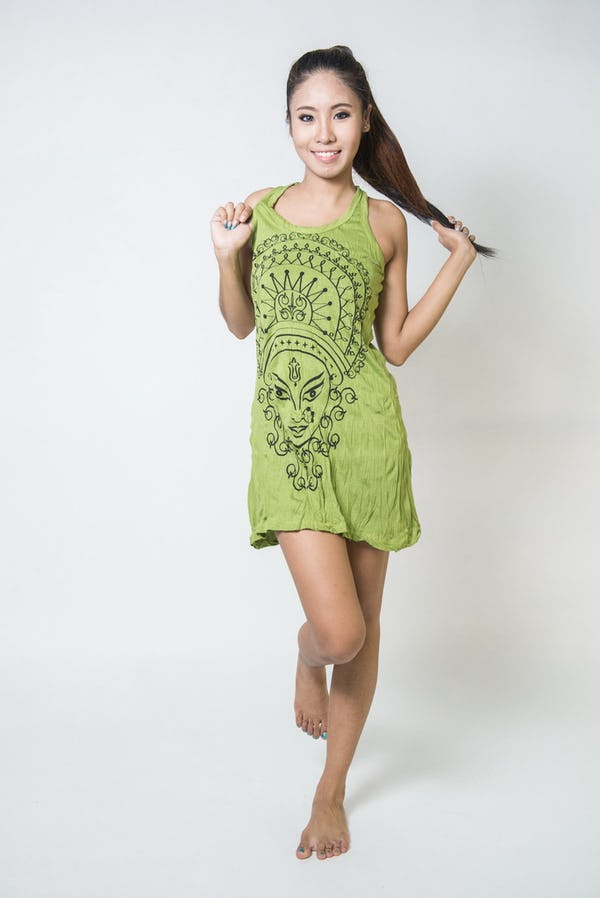 Sure Design Womens Durga Tank Dress Lime