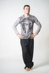 Sure Design Unisex Wild Elephant Hoodie Grey