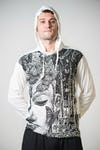 Sure Design Unisex Butterfly Buddha Hoodie White