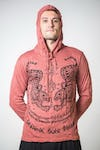 Sure Design Unisex Thai Tattoo Hoodie Brick