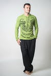 Sure Design Unisex Thai Tattoo Hoodie Lime