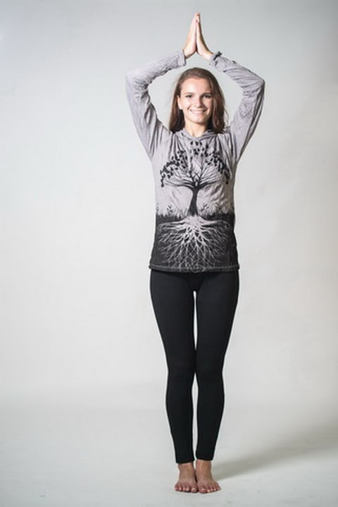 Unisex Tree of Life Hoodie in Gray
