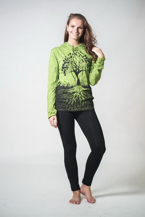 Sure Design Unisex Tree of Life Hoodie Lime