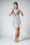 Sure Mirror Design Womens Third Eye Tank Dress White