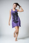 Sure Design Womens Eagle Tank Dress Purple