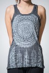 Sure Design Womens Dreamcatcher Tank Top Silver on Black