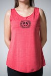 Super Soft Sure Design Women's Tank Tops Peace Sign Red