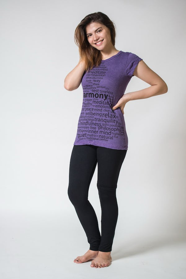 Sure Design Womens Harmony T-Shirt Purple