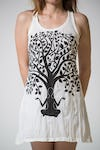 Sure Design Womens Meditation Tree Tank Dress White