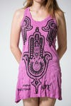 Sure Design Womens Three Hands Tank Dress Pink