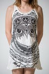 Sure Design Womens Weed Owl Tank Dress White