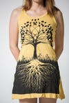 Sure Design Womens Tree Of Life Tank Dress Yellow