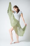 Fair Trade Hand Made Organic Cotton Scarf Green