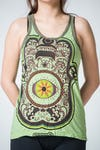 Sure Design Womens Hamsa Eye Power Tank Top Green