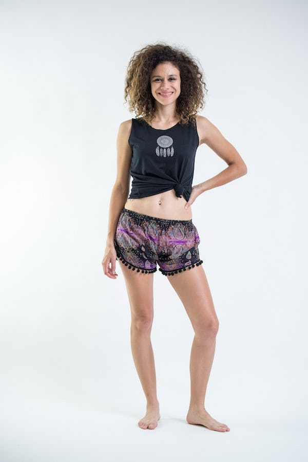 Sure Design Paisley Super Light Pom Pom Shorts Purple/Black