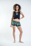 Sure Design Paisley Super Light Pom Pom Shorts Turquoise/White
