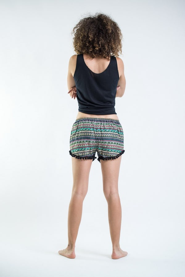 Sure Design Aztec Stripes Super Light Pom Pom Shorts Aqua/Black