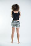 Sure Design Tribal Prints Super Light Pom Pom Shorts Green/White