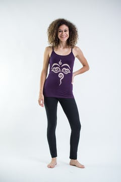 Cotton Spandex Super Soft Women's Tank Top Lotus OM Purple
