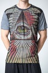 Sure Design Mens Pyramid eye T-Shirt Gray