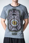 Sure Design Mens Hamsa Eye Power T-Shirt Gray