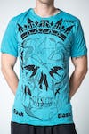 Sure Design Mens Crow Skull Tshirt Turquoise