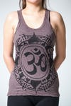 Sure Design Womens Infinitee Ohm Tank Top Brown