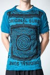 Sure Design Mens Labyrinth T-Shirt Denim Blue
