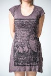 Sure Design Womens Sanskrit Buddha Dress Brown