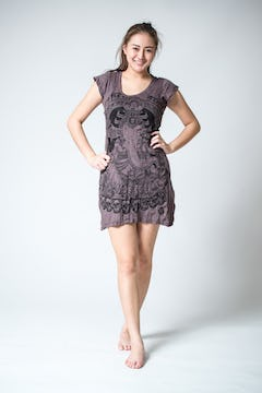 Womens Tree of Life Dress in Brown