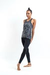 Sure Design Womens Infinitee Ohm Tank Top Silver on Black