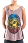 Super Soft Womens Owls Tank Top Brown