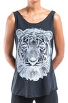 Super Soft Womens Tiger Tank Top Black
