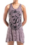 Womens Infinitee Om Tank Dress in Brown