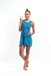 Sure Design Womens Peace Tank Dress Denim Blue