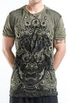 Sure Design Mens Face Giant T-Shirt Green