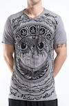 Sure Design Mens Weed Owl T-Shirt Gray