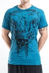 Sure Design Mens Hell Skull T-Shirt Denim Blue