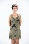 Womens Magic Mushroom Tank Dress in Green