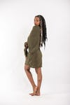 Hoodie Dress w/ Scarf Combo in Green