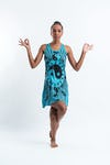 Sure Design Womens Multi Yin Yang Tank Dress Turquoise