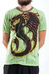 Sure Design Mens Dragon T-shirt Green