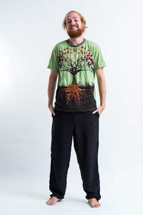 Sure Design Mens Tree of Life T-shirt Green