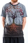 Sure Design Mens Tree of Life T-shirt Gray