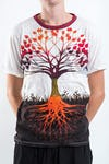Sure Design Mens Tree of Life T-shirt White