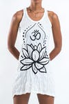 Sure Design Womens Lotus Ohm Tank Dress White
