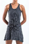 Sure Design Womens Lotus Ohm Tank Dress Black